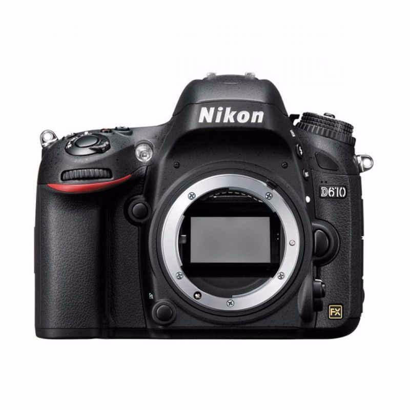 nikon d610 kamera dslr body only- hitam