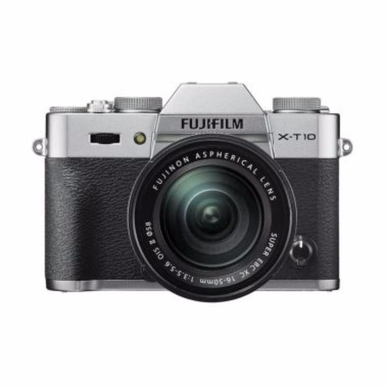 fujifilm x-t10 kamera mirrorless 16-50 mm silver