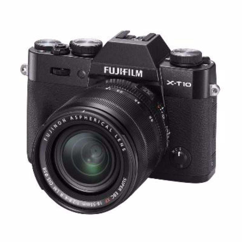 fujifilm x-t10 kamera mirrorless 18-55mm hitam