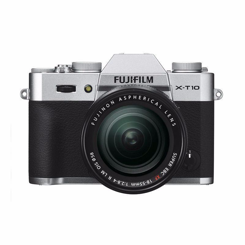 fujifilm x-t10 kamera mirrorless 18-55mm silver