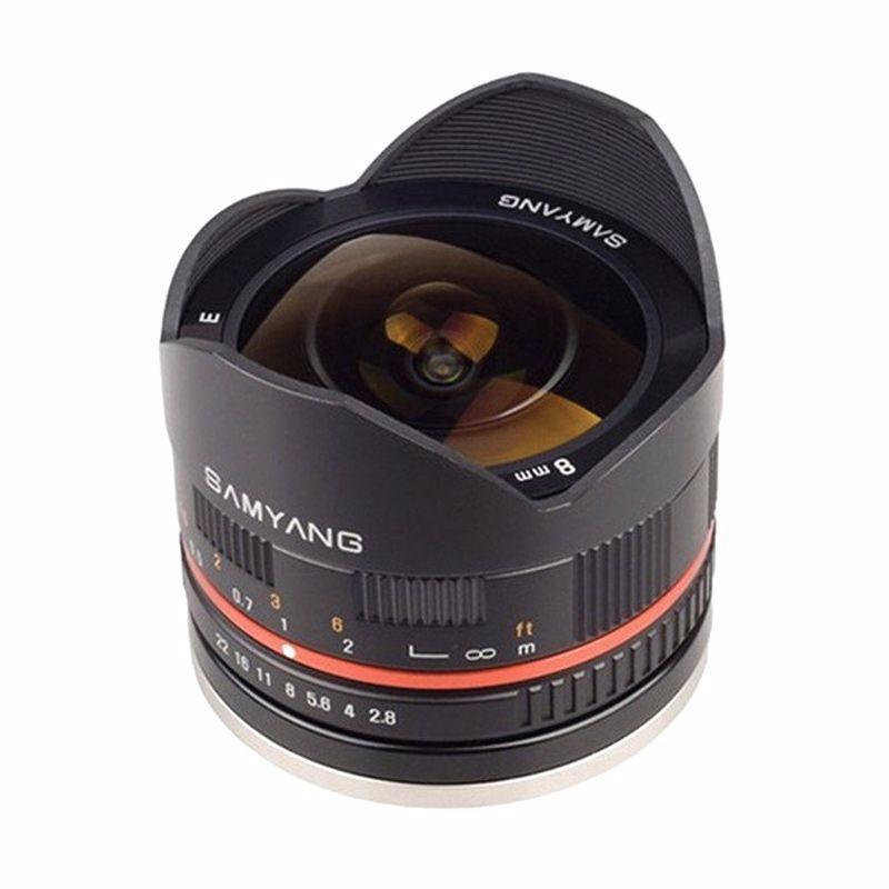samyang for fujifilm 8mm f2.8 umc fisheye ii lensa kamera