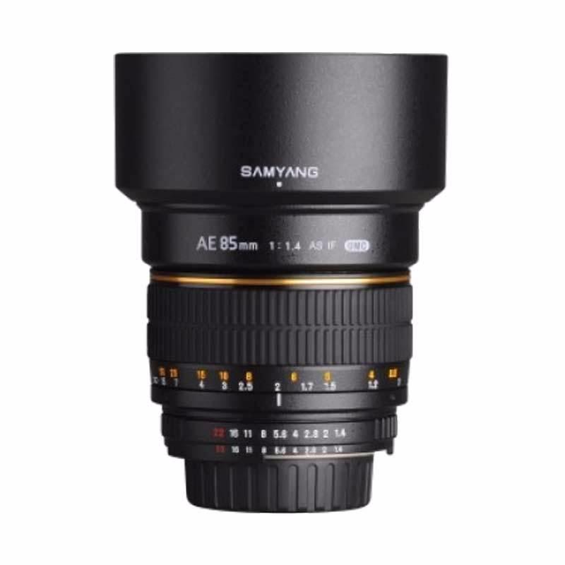 samyang for nikon 85mm f1.4 if umc ae lensa kamera