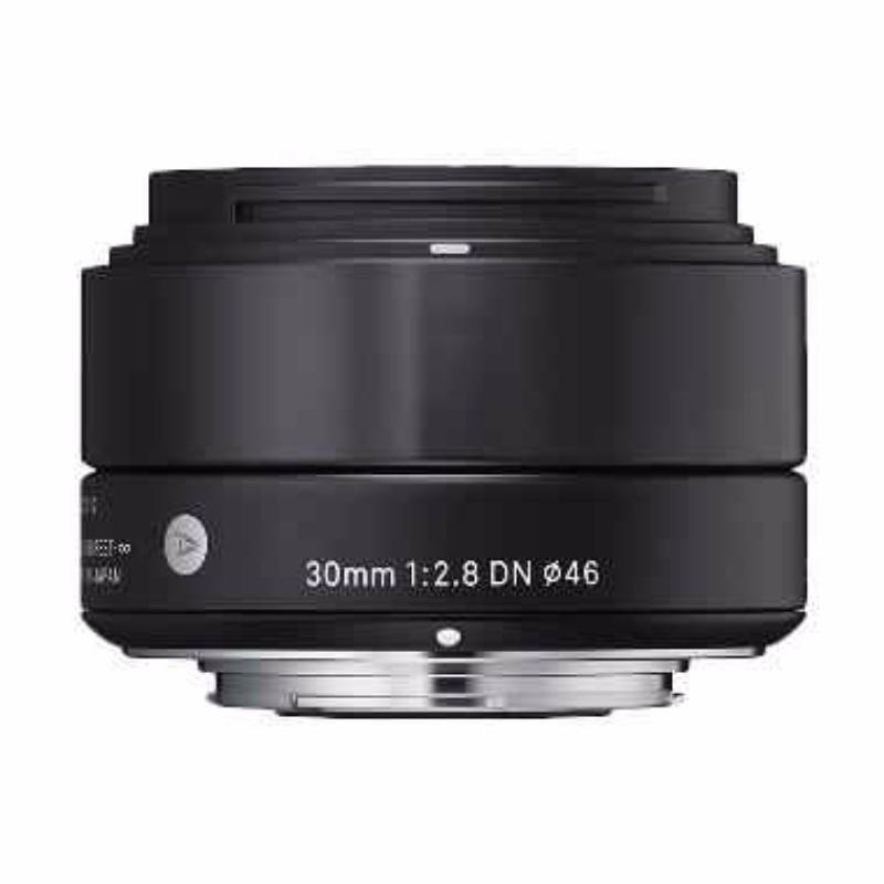 sigma 30mm f2.8 dn a black lensa kamera for sony
