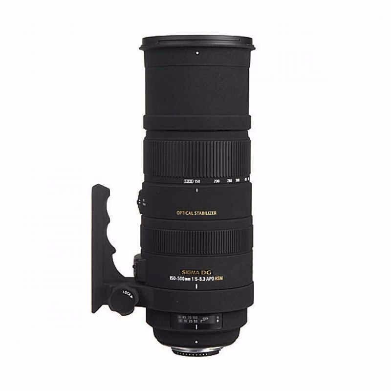 sigma apo 150-500mm f5-6.3 dg os hsm hitam lensa kamera for nikon
