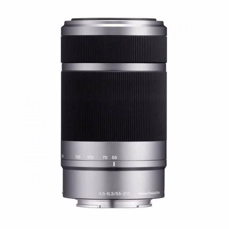 sony e 55-210mm f4.5-6.3 oss lensa kamera silver