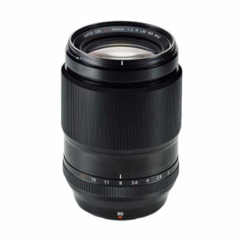 fujifilm xf 90mm f2 r lm wr black lensa kamera