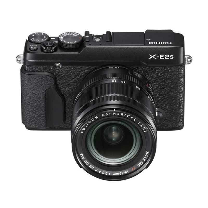 fujifilm x-e2s kit 18-55mm kamera mirrorless - hitam