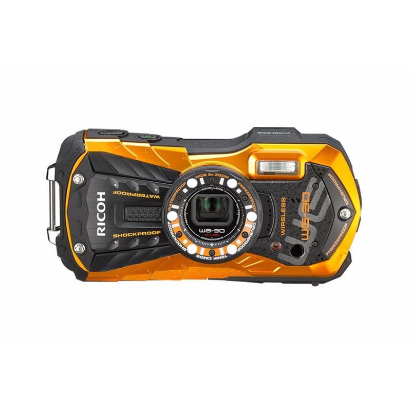 ricoh kamera pocket wg 5 gps kit orange memory card 8gb