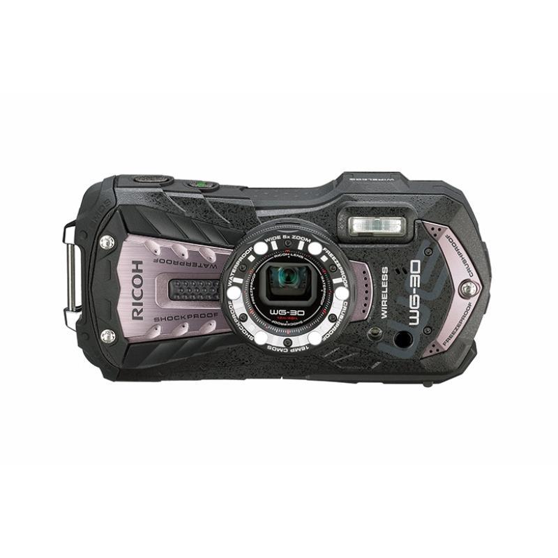 ricoh kamera pocket wg 30w kit abu-abu memory card 8gb