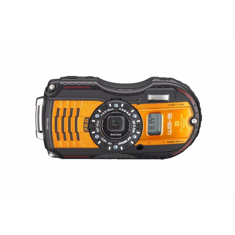 ricoh kamera pocket wg-30w flame orange memory card 8gb