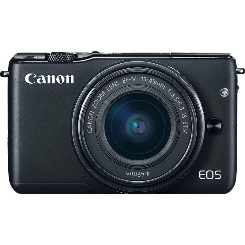 canon kamera mirrorless eos m10 kit ef-m 15-45mm is stm hitam