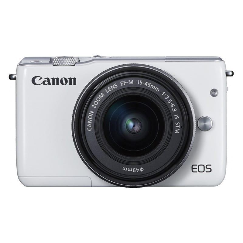 canon kamera mirrorless eos m10 kit ef-m 15-45mm is stm putih