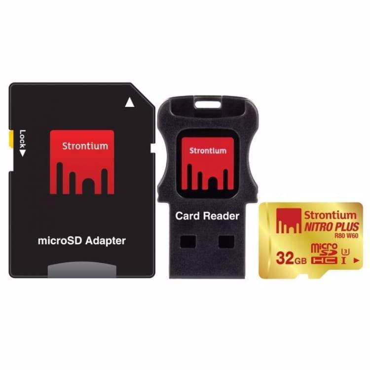 Strontium Nitro Plus 4K MicroSDHC UHS 1 U3 32GB
