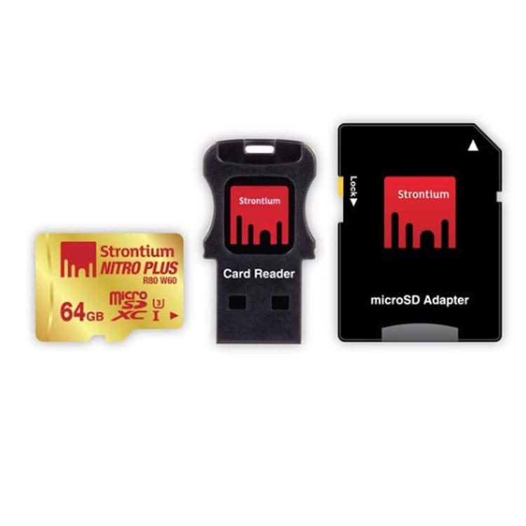 Strontium Nitro Plus 4K MicroSDHC UHS-1 U3 32GB with Adapter and Card Reader
