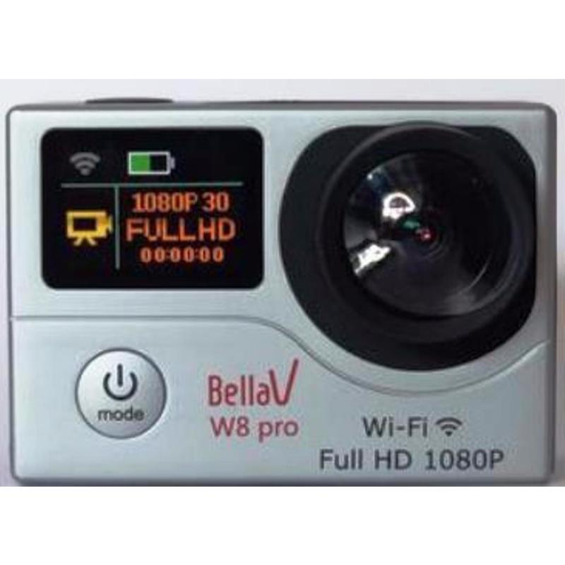 bellavision actioncam bv-w8 pro wifi dual layar display 12mp silver