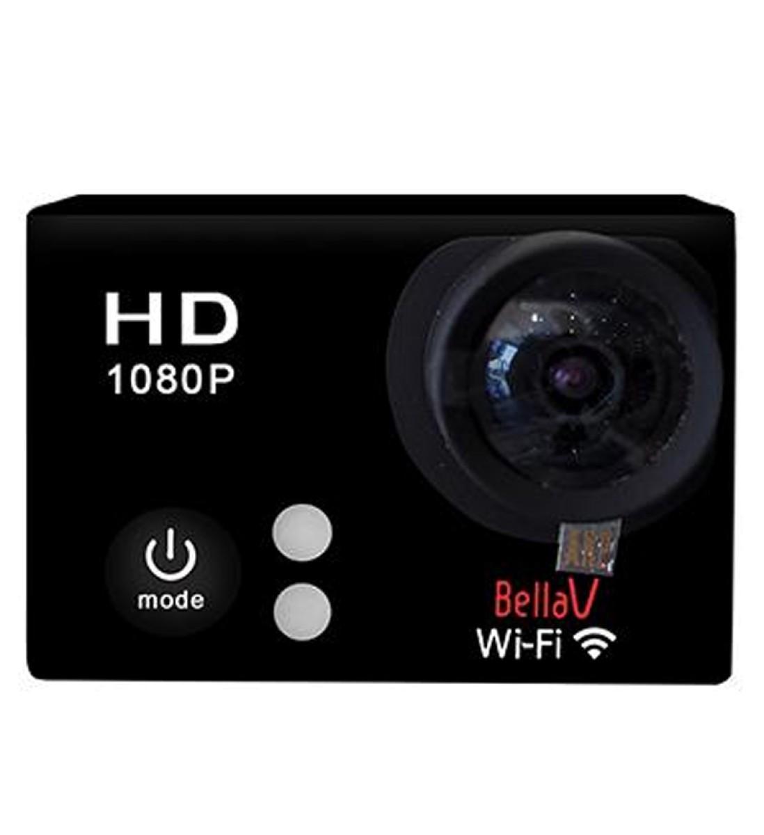 bellavision actioncam bv-w8ed wifi 2&quot lcd black