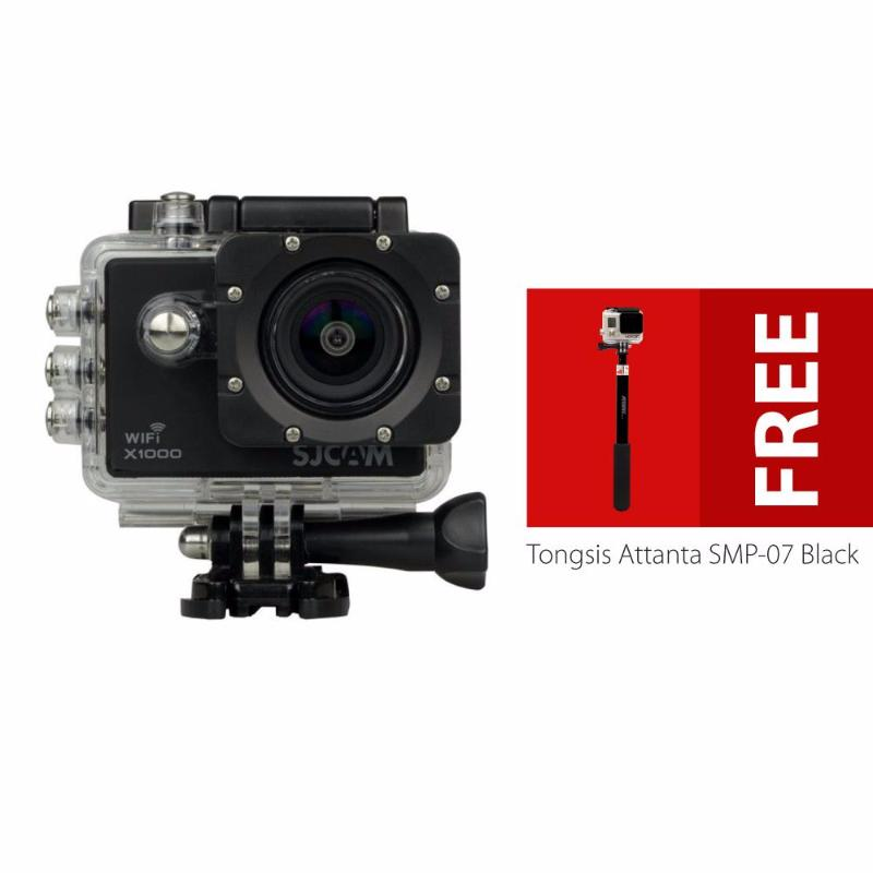 sjcam x1000 wifi limited edition sj4000 2nd generation with lcd 2&quot action camera - hitam