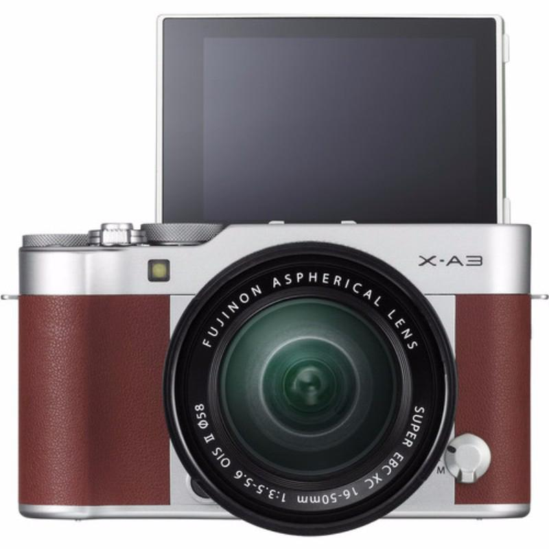 fujifilm mirrorless digital camera x-a3 16-50mm cokelat