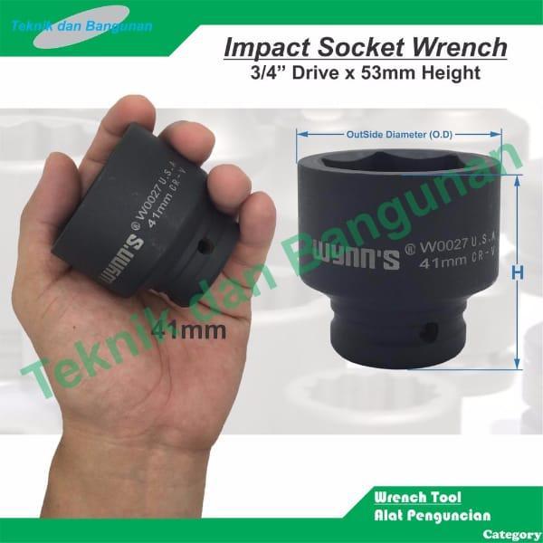 "Impact Socket Wrench/Mata Sock Impact Wynn's 3/4"" x ."