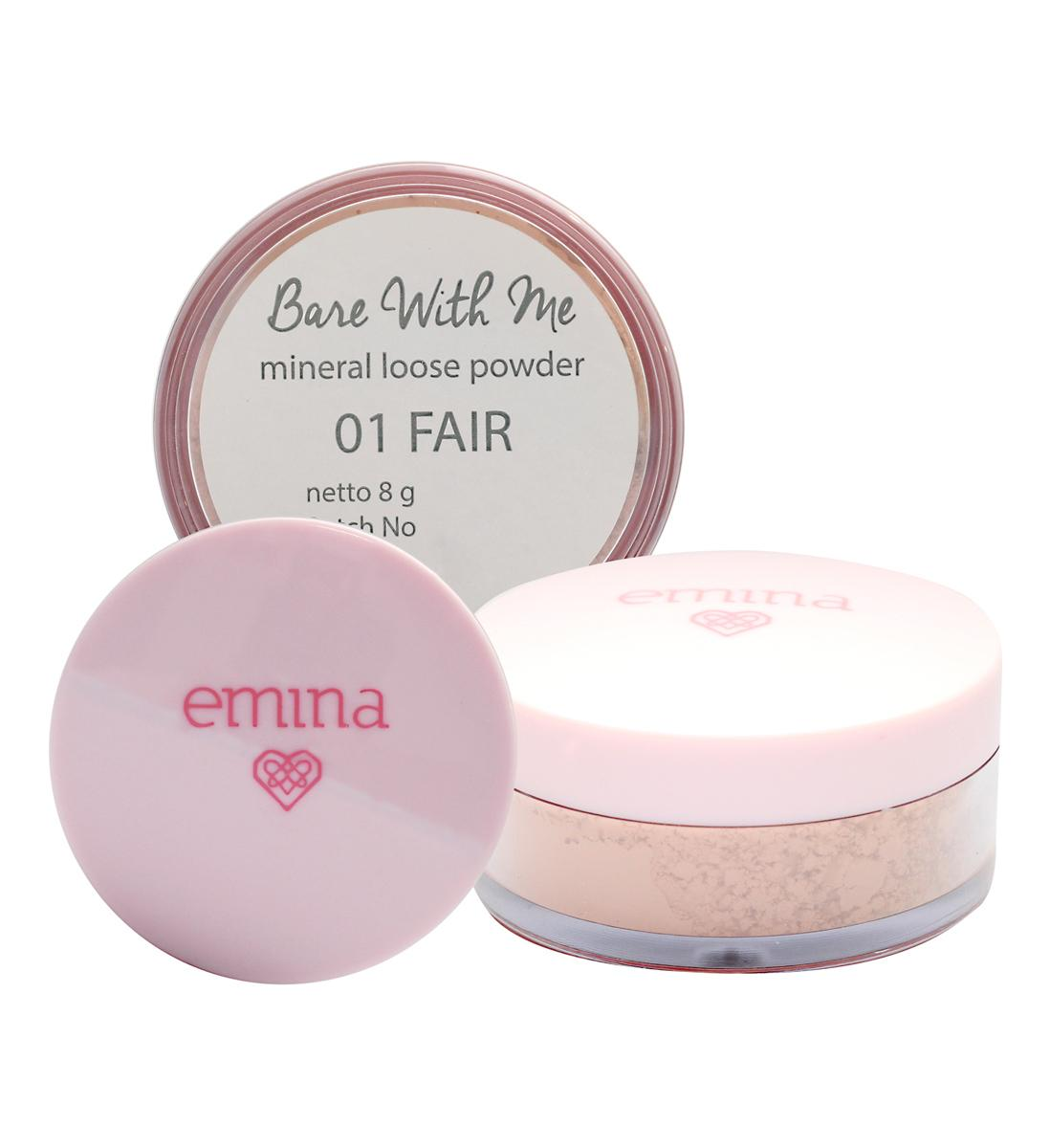 (0 Review). EMINA Bare With Me Loose Powder 01 Fair 8g