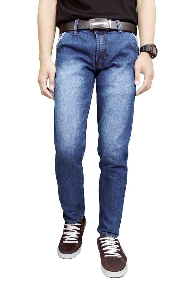 (0 Review). Gudang Fashion Celana Jeans Panjang CLN 1079 Biru 29