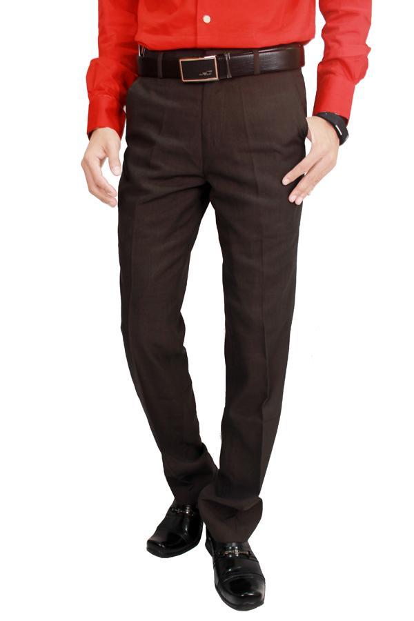 Gudang Fashion Men Suit Long Pants Trousers Cokelat Tua 29
