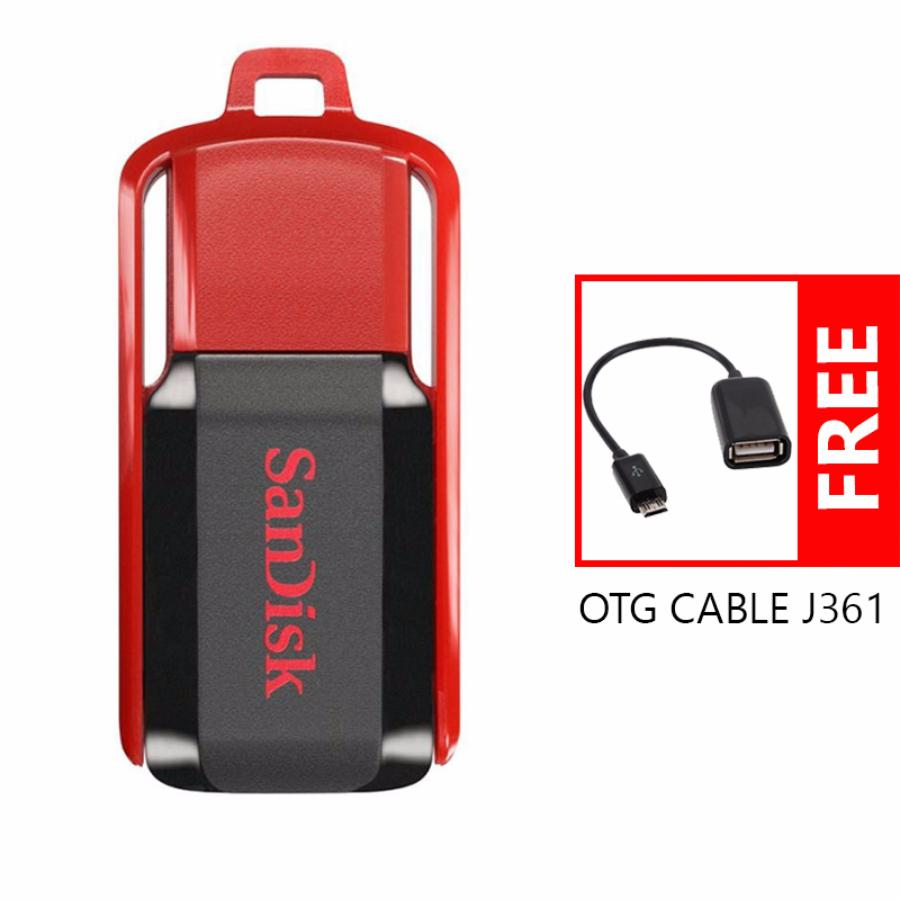 Sandisk Flashdisk Cruzer Switch Cz52 32gb Free Bonus Otg Cable J361 Dial Cz57 Hitam