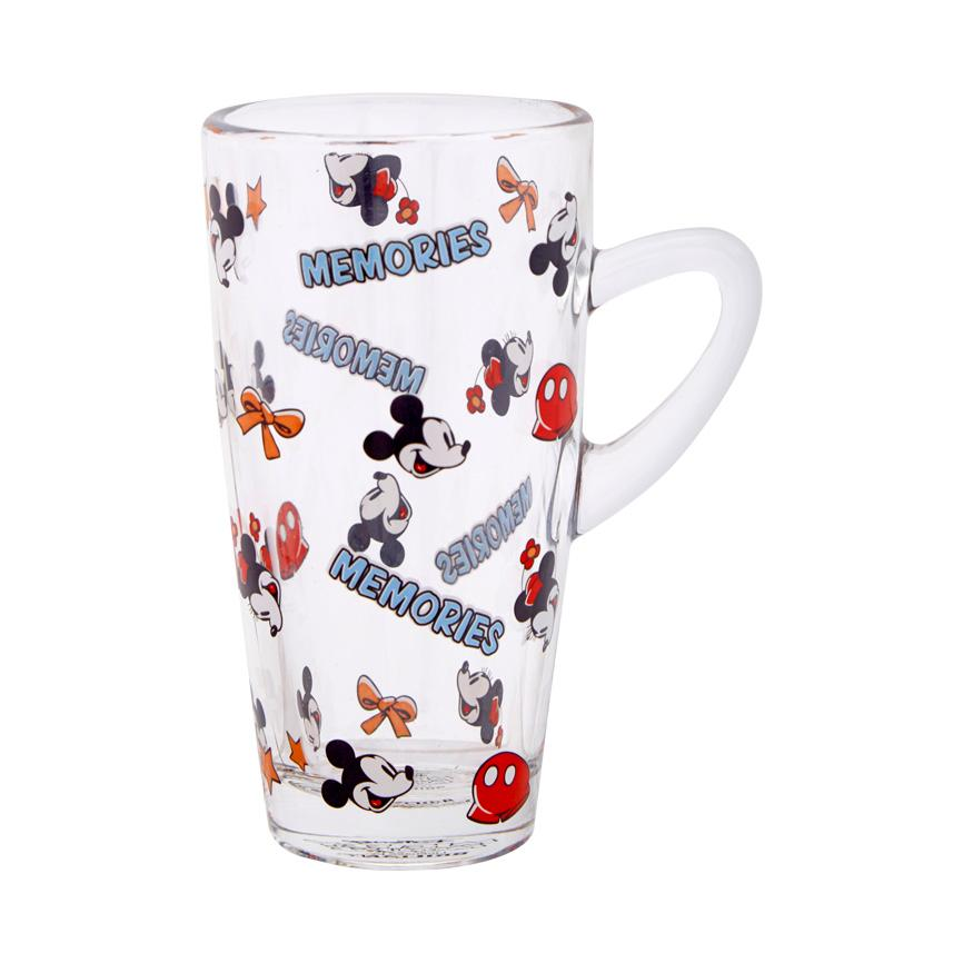 (0 Review). Disney Mickey Mouse Slim Glass Mug 320 ML Biru