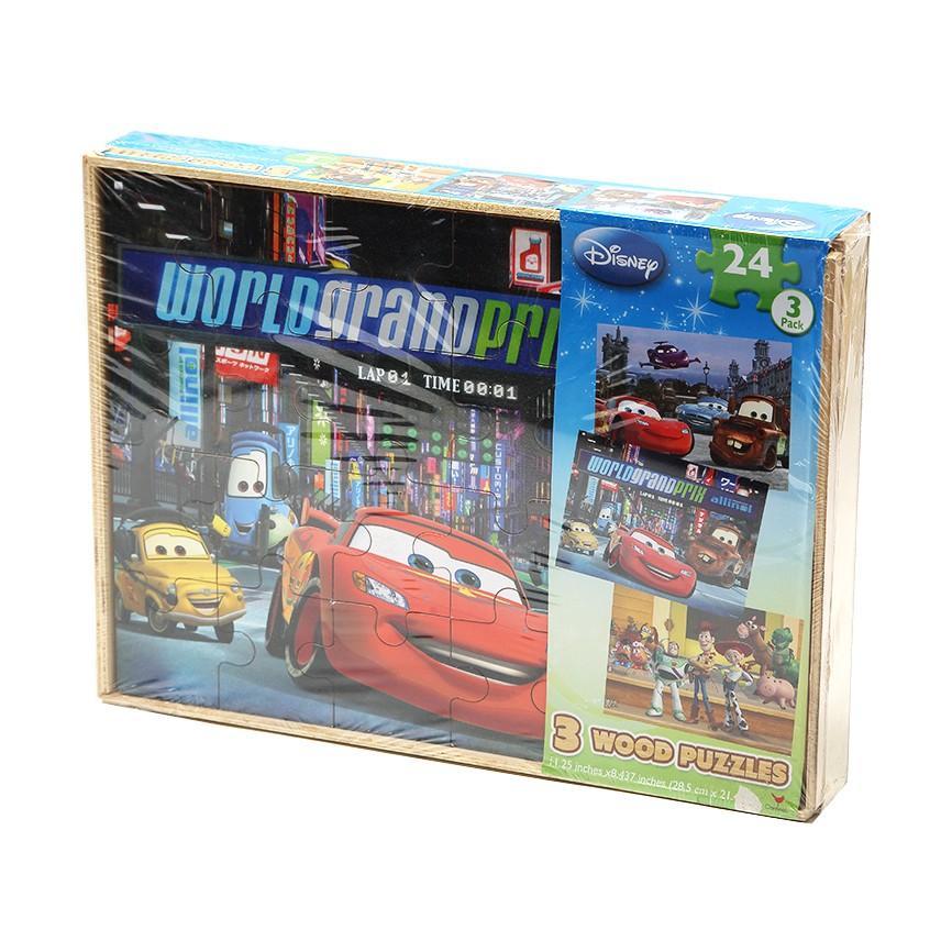 (0 Review). Disney Pixar Cars World Grand Prix 3 Wood Puzzle