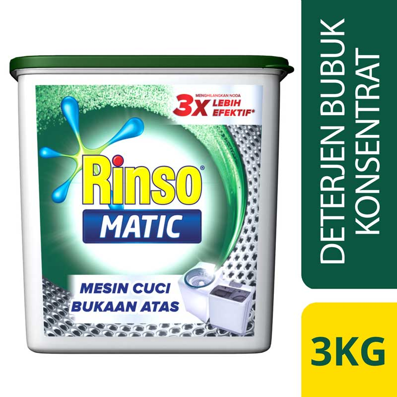 RINSO Matic Top Load 3kg New
