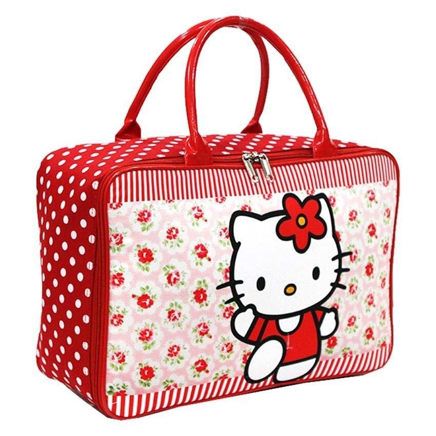 (0 Review). Onlan Travel Bag Karakter Hello Kitty Bahan Kanvas Halus ...