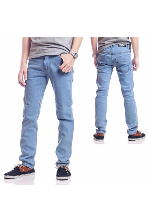 (0 Reviews). DEcTionS Celana Jeans Panjang Pria - Biru Muda 32